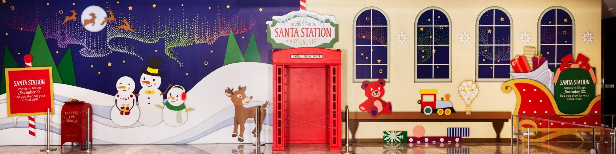 Santa Station Experience at Hudson Yards for Holiday 2020